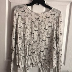 H&M mythical creature blouse